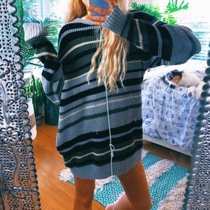 Sweaters - chunky carbon waffle knit grunge sweater